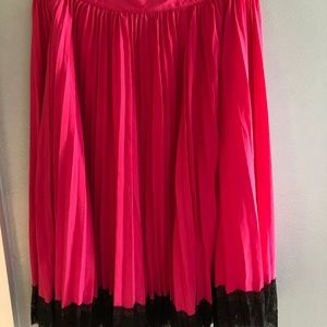 Hot Pink Cerise Style Flowy Skirt